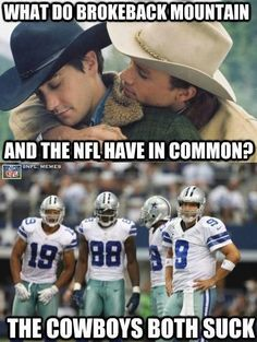 Hahaha! Cowboys suck!