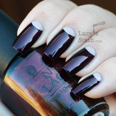 Lucy's Stash - OPI Germany Half-moon manicure. So sophisticated.