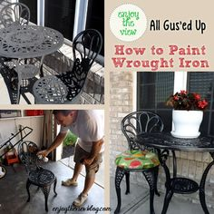 {enjoy the view} | how to paint wrought iron