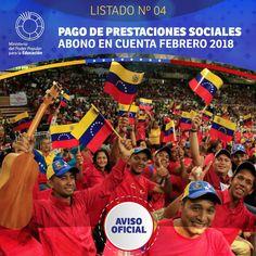 LISTADO Nº04 PAGO DE PRESTACIONES  SOCIALES ABONO EN CUENTA FEBRERO 2018