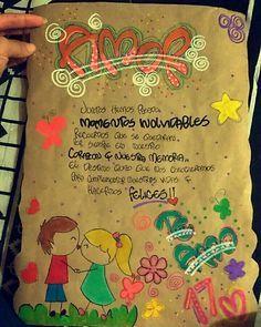 Resultado de imagen para tarjeta de carton paja Ideas Aniversario, Birthday Decorations, Cute Pictures, Graffiti, Diy And Crafts, Clip Art, Valentines, Lettering, My Love