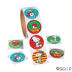 Peanuts® Christmas Stickers.  $2.99 1 Roll(s)
