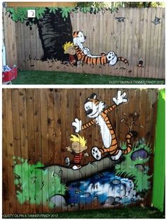 Calvin And Hobbes Backyard Murals of the Day - this is the backyard I want!!