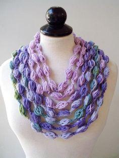 Multi strand necklace Bib necklace purple Statement necklace