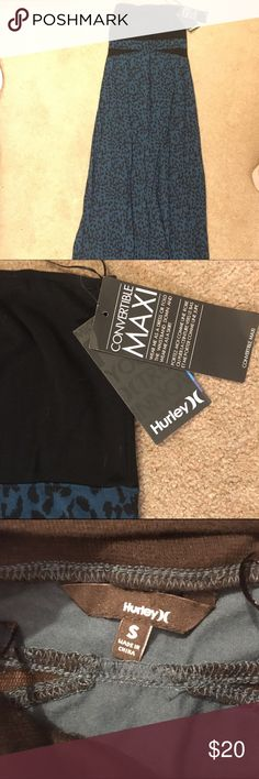 Hurley maxi convertible strapless dress NWT this dress can be worn as a strapless dress or rolled down to be a maxi skirt. Hurley Dresses Strapless