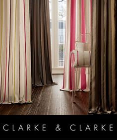 clarke and clarke fabric from SJ Miller soft furnishings Liphook