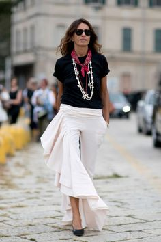 The Most Captivating Street Style Photos From Milan Fashion Week via…