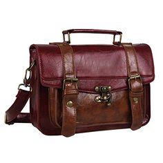 Ecosusi Women Briefcase Vintage Purse School Handbag (Red) Ecosusi http://www.amazon.com/dp/B00HQYE82E/ref=cm_sw_r_pi_dp_WLcvwb14MBK8J