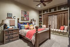 Love all these ideas for GT's room - 20 baseball rooms! Boys Baseball Theme Rooms