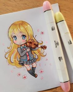 A chibi Kaori today for you to enjoy guys  these @artnfly markers are fun to useee, wait to read for my review on them okay?   have a nice daaay!