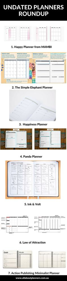 undated planner weekly simple elephant panda action publishing ink volt hapiness dated versus undated planners roundup review