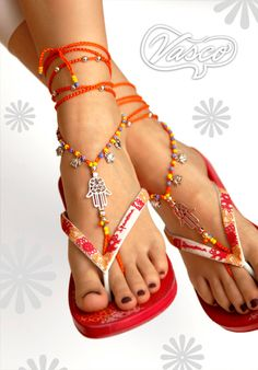 Items similar to Silver Hamsa Hand Barefoot Sandal, Yoga, Orange Barefoot Sandals, Anklet on Etsy Gold High Heel Sandals, Bare Foot Sandals, Beach Sandals, Hippie Shoes, Mode Hippie, Bohemian Sandals, Crochet Barefoot Sandals, Sexy Toes, Female Feet