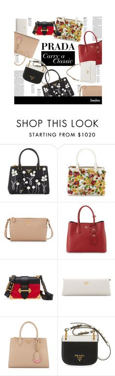 """""""Prada: Carry a Classic"""" by neimanmarcus ❤ liked on Polyvore featuring Prada"""