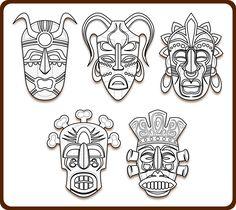 Imagem de http://www.tattoobite.com/wp-content/uploads/2014/05/tribal-mask-tattoo-sheet.png.
