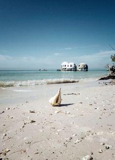Dome homes at Cape Romano Marco Island, Florida
