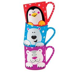 Snow Pals Mugs Perfect Christmas Stocking Filler for Children (Pack of 3)