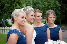 Wedding Dresses & Bridesmaids | True Bride | Bridesmaids wear M520t in Navy
