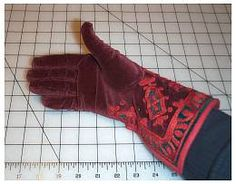 Recreating 16th and 17th Century Clothing: The Renaissance Tailor -- Making gloves from pattern to hand.