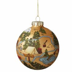Midwest-CBK Camping Ball Decorated Christmas Ornament