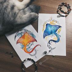 #tattoo #tat #tattoosketch #tattoosketches #tattooartist #art #artlife #artoftheday #artist #pic #picoftheday #picture #illustrator #illustration #illustrate #vsco #vscocam #color #watercolor #watercolortattoo #linework #line #mandala #shokfish