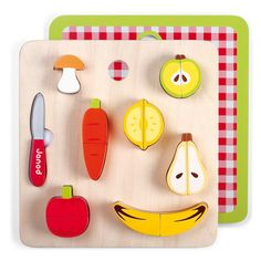 Janod Chunky Fruits & Vegetables Set at Oompa Toys