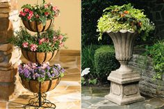 like the stone planter