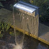 Simple ubbink niagra stainless steel waterfall cm with led lights