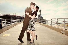 vintage military engagement shoot. love!