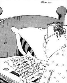 """The Far Side"" by Gary Larson. So twisted, but hilarious. Lol"