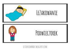 Dzieckiem bądź: Ilustrowany plan dnia DO POBRANIA Family Guy, How To Plan, Education, Comics, Logos, School, Fictional Characters, Logo, Cartoons