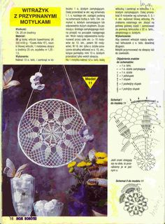 "Photo from album ""Moje robotki on Yandex. Crochet Doily Diagram, Crochet Chart, Thread Crochet, Crochet Doilies, Crochet Flowers, Mandala Crochet, Crochet Home, Diy Crochet, Dreamcatcher Crochet"