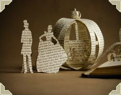 centerpieces made out of vintage books. gorgeous for a Cinderella party. Cinderella Book, Cinderella Wedding, Wedding Book, Dream Wedding, Wedding Day, Trendy Wedding, Rustic Invitations, Wedding Invitations, Origami