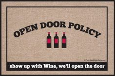 High Cotton #Doormat, Open Policy #Wine High Cotton - $17.81 http://www.amazon.com/dp/B00720511E/ref=cm_sw_r_pi_dp_x0D1tb1K6RXF9FZE