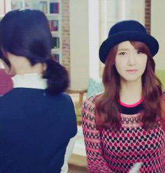 Yoona SNSD Girls' Generation SK LTE CF Cute Hat GIF