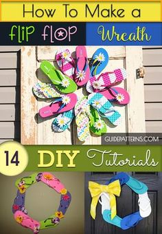 How to Make a Flip Flop Wreath: 14 DIY Tutorials | Guide Patterns