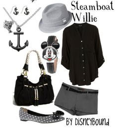I love all things monochrome, so this Steamboat Willie inspired Disneybound outfit is spot on!! ♥