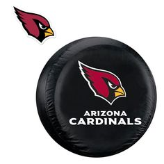 Arizona Cardinals NFL Spare Tire Cover and Grille Logo Set (Regular)