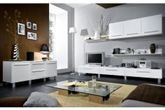 Monica obývacia stena biele prevedenie Monaco, Office Desk, Corner Desk, Flat Screen, Kitchen Appliances, Furniture, Home Decor, Black People, Fall 2016