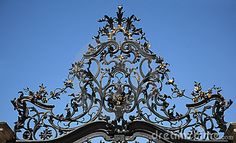 Wrought Iron Gate Ornament - Download From Over 42 Million High Quality Stock Photos, Images, Vectors. Sign up for FREE today. Image: 6614882