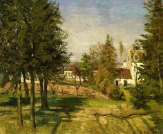 The Pine Trees of Louveciennes, 1870			-Camille Pissarro - by style - Impressionism