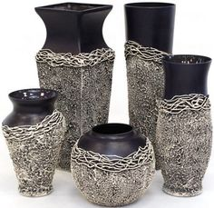 Discover thousands of images about Unique Handdecorated Wine Decanter, Special gift, Wine Dec Glass Bottle Crafts, Wine Bottle Art, Glass Bottles, Pottery Painting, Pottery Vase, Ceramic Pottery, Blue Wine Glasses, Doll House Crafts, Clay Vase