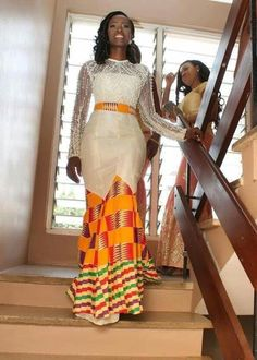 Kente wedding dress Ankara dress African wedding by SleekLife African Bridal Dress, African Print Dresses, African Print Fashion, Africa Fashion, African Dress, Bridal Dresses, African Prints, African Print Wedding Dress, Ghana Wedding Dress