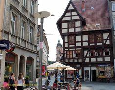 Part of the market square in Göttingen, Germany.  #Göttingen #vacation #travel www.avacationrental4me.com