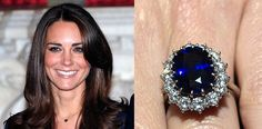 Most famous sapphire ring is nowadays in Kate's Middelton poses