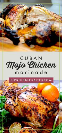 Using a quick and easy Mojo marinade, my recipe for Cuban Mojo Chicken is tender and juicy, every bite having a complex flavor of herbs, citrus, and spices Cuban Recipes, Whole 30 Recipes, New Recipes, Dinner Recipes, Cooking Recipes, Healthy Recipes, Amazing Recipes, Recipies, Chicken Marinade Recipes