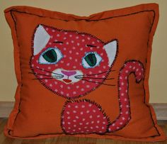 funny handmade cat pillow case
