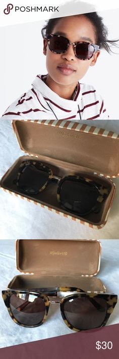 Madewell Playlist Sunglasses Brown tortoise shell Playlist sunnies from Madewell. They're super cute and make a statement! No scratches on the lenses either. I have Ray-Bans that I wear all the time now so I don't need these anymore. I will ship them with the case which is also from Madewell. Madewell Accessories Sunglasses