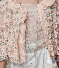 #nina ricci #fashion #couture #details #beading #pink