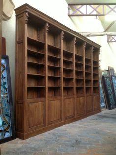 massieve boekenkast bibliotheek in perfecte staat 450 / 290 verstelbare planken