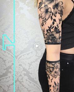 Feminine Arm Sleeve Tattoos For Women Side Hand Tattoos, Forearm Sleeve Tattoos, Hand Tattoos For Guys, Arm Tattoos For Women, Tattoo Designs For Women, Girl Tattoos, Tatoos, Gypsy Tattoos, Feminine Tattoo Sleeves